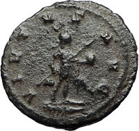 GALLIENUS w Globe and Spear Authentic Ancient Genuine 260AD Roman Coin i67678