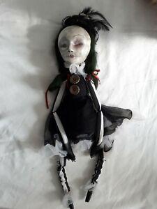 Ooak Hand Made Creepy Victorian Gothic Art Doll Vampire Doll