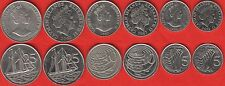 Cayman Islands set of 6 coins: 5 - 25 cents 1987-2013