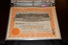 Glenn - Osage Oil Company Grand Rapids Mi Stock Certificate Rare 1927