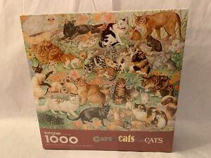 Cats Cats Cats! 1000 Pc Jigsaw Puzzle Springbok New Sealed