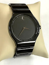 Movado 0607047 Cerami Black Dial Black Ceramic Mens/Unisex Quartz Watch WARRANTY