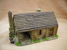 28MM PMC GAMES ME51 (PAINTED)BLACKSMITHS FORGE SLATE ROOF AND CHIMNEY - MEDIEVAL