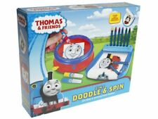 THOMAS & FRIENDS 2 IN 1 DOODLE & SPIN KIDS CHILDRENS BOYS ARTS AND CRAFT TOY GIF