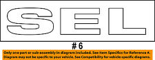 Ford OEM 2006-2012 Fusion Trunk Lid Emblem Badge Nameplate 'SEL' 6E5Z-5442528-C