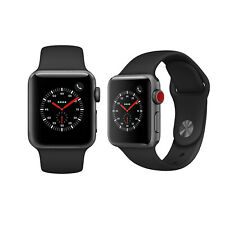 Apple Watch 3 38mm Cellular Space Grey Aluminum Case With Black Sport Band