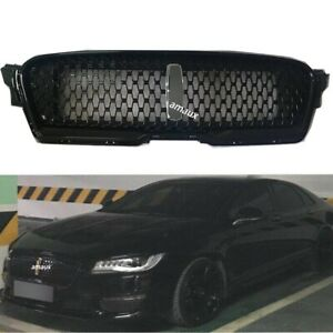 For Lincoln MKZ 2017-2019 Front Upper Grill Bumper Vent 18 Grille Glossy Black