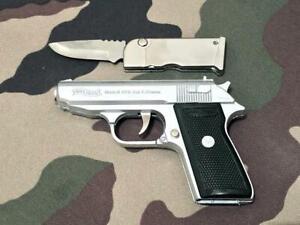 Feuerzeug Pistole Walther PPK Combat Sturmfeuerzeug Pistolenfeuerzeug + Messer
