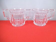 Vintage Heisey Narrow Flute Clear Glass Mini Creamer & Sugar Bowl