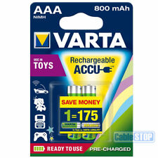 VARTA AAA Rechargeable Digital Camera Toy Batteries 800mAh Pack of 2 small size