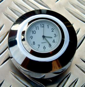 British Made Harley V-Rod® Stem Nut Cover with White Clock