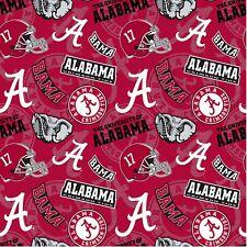 NCAA University of Alabama Licensed Cotton Fabric 1/2 Yard 43/44