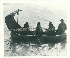 1943 Seven-Man Life Raft with Sail Original News Service Photo