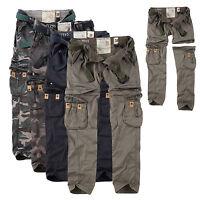 SURPLUS Raw Vintage Damen Premium Trekking Hose & Shorts in einem Cargo ZIP OFF