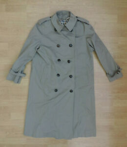 Men's Aquascutum Trench Coat Jacket House Check Lining Double Breasted E4-A6