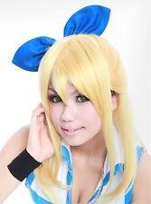 W-128 Fairy Tail Lucy 52cm Cosplay Parrucca Wig Perruque calore fisso Bionda Bionda