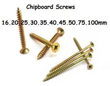 Chipboard Wood Screw Zinc Countersink 16 20 25 30 35 40 45 50 75 100 mm MDF