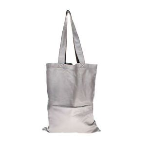 RRP €485 RICK OWENS LARRY F/W 19 Leather Tote Bag Metallic Slouchy Made in Italy