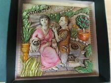 """Picturesque Tiles Byron's Secret Garden """"Love's Labours"""" Harmony Kingdom"""