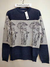 Palace P Statue Knit in Navy / White Size Small - New in Bag Deadstock free ship