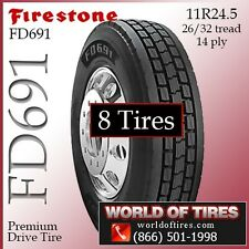 Firestone Commercial Tires FD691 8 tires 11R24.5 FREE SHIPPING