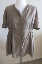 Acne khaki top, Size 44, AUS 10-12, new