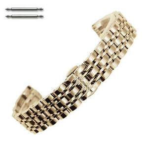 Steel Polished Rose Gold Metal Replacement Watch Band Strap Butterfly Clasp #58