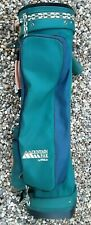 WILSON MOUNTAIN PAK GOLF CARRY/BAG GREEN COMPLETE WITH RAIN COVER USED.