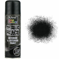 9 x 200ml Metallic Black Spray Paint Interior & Exterior Spray Aerosol Can