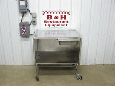 """36"""" x 24"""" Stainless Steel Heavy Duty Mobile Table Cabinet w/ Drawer 3' x 2'"""