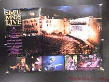 1987 Simple Minds Live in the City of Light AM Record Store Promo Poster Vintage
