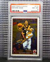 2003-04 Dwyane Wade Topps Chrome Draft Pick Rookie Card RC # 115 PSA 8 7843