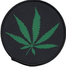 Marijuana Leaf Embroidered Patch Badge ** LAST FEW **