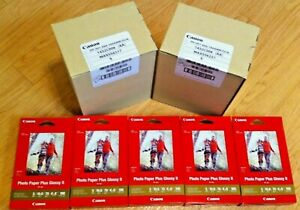 """Lot of 15 Canon PP-301 Photo Paper Plus Glossy II 4 x 6"""", 100 Sheets Per Box NEW"""