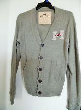 Men's HOLLISTER ABERCROMBIE Vintage 1922 Cardigan Knit Jacket Sweater Size L