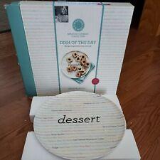 "Martha Stewart Collection Dish Of The Day Dessert Platter 12.3"" Cookie Plate Fun"