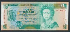 1990; Belize 1 Dollar Geldschein, P.51 kassenfrische Erhaltung( I )