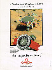 PUBLICITE ADVERTISING 045  1998  OMEGA 2  montre  SPEEDMASTER PROFESSIONAL X 33