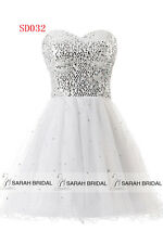 US Short Women Prom Ball Homecoming Gown Beaded Cocktail Bridesmaid Dresses 2 4
