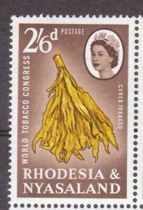 RHODESIA AND NYASALAND 1963 SG46 2/-6d. WORLD TOBACCO CONGRESS, SALISBURY -  MNH