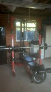 Powertec Home Gym, work bench, leg curl & upper body - Includes all weights