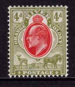 Orange River Colony 1903/04 EDVII 4d Scarlet & Sage Green SG 144 Cat £38 M/Mint