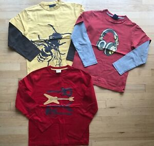 Lot of 3 MiniBoden l/s shirts, size 9-10