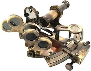 """4"""" Marine Brass Sextant Nautical Handmade Gift Article Antique Collection"""
