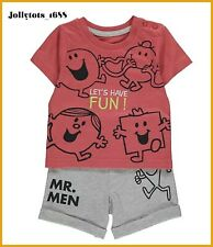 NEW Mr Men Baby Boys Clothes Shorts & Top Outfit 18-24 Months