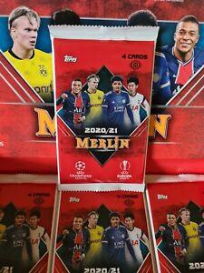 Topps Merlin Chrome Champions & Europa League 2020-21 Sealed Hobby Pack x1