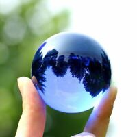 Blue Crystal Ball Globe Sphere Feng Shui Glass Balls Miniatures Ornaments Gifts