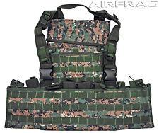 Tarkenn Adjustable MOLLE Web Tactical Vest - Woodland Camo -12 Front/Back Straps