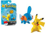 Pokemon TOMY Set of 2 Figure MUDKIP vs PIKACHU T18445 T18446 Brand New