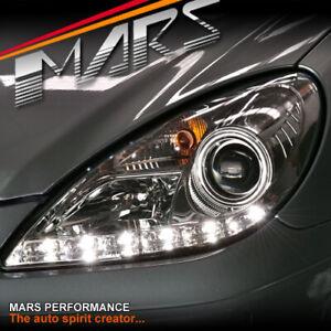 Clear LED DRL Projector Head Lights for Mercedes-Benz SLK R171 -H7 Halogen Model